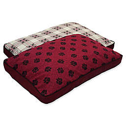MyPillow® Cotton/Poly Medium Pet Bed in Burgundy