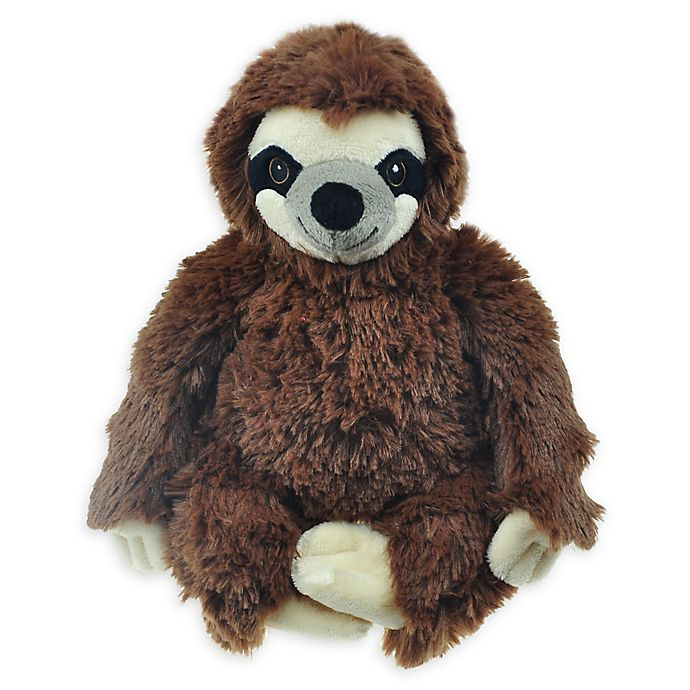 Alternate image 1 for Bounce & Pounce Plush Sloth Squeaker Dog Toy in Brown