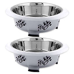 ICONIC PET Designer Oval Fusion Pet Bowls (Set of 2)