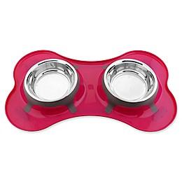 Iconic Pet Color Splash Designer Bone Shape Fusion Diner Dog Bowl
