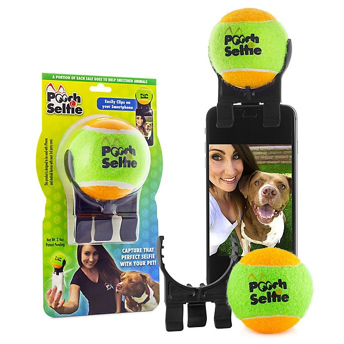 Alternate image 1 for Smartphone Pooch Selfie Accessory in Green