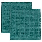 KitchenSmart® Colors 2-Pack Solid Windowpane Dish Cloth in Atlantic
