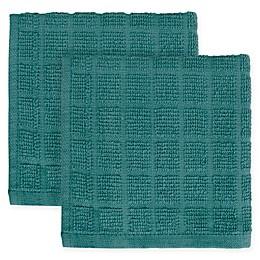 KitchenSmart® Colors 2-Pack Solid Windowpane Dish Cloth