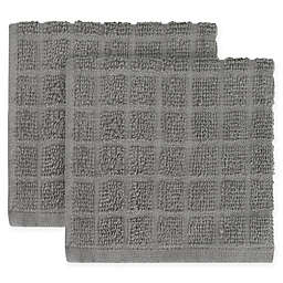 KitchenSmart® Colors 2-Pack Solid Windowpane Dish Cloth