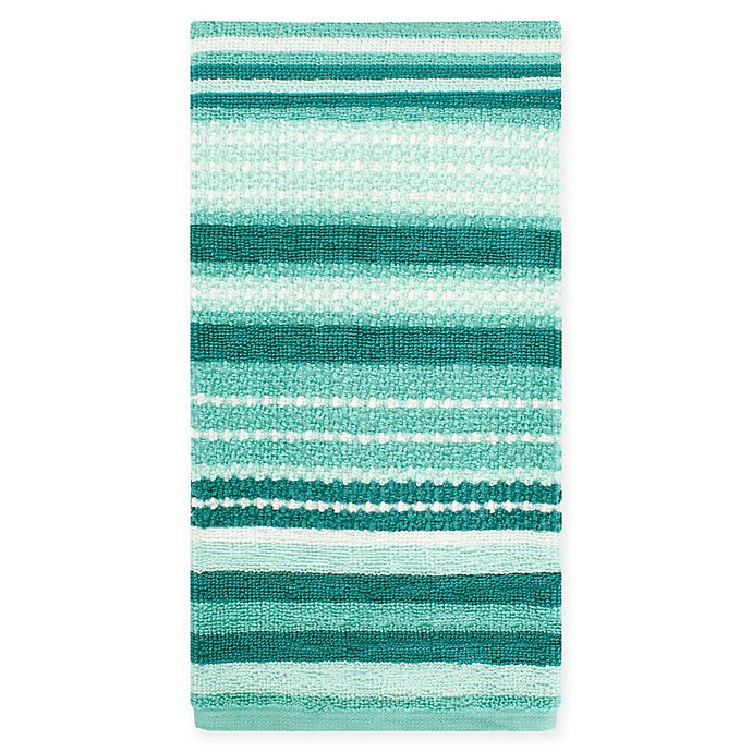 Alternate image 1 for KitchenSmart® Colors Multi Stripe Kitchen Towel in Surf/Atlantic
