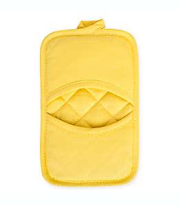 KitchenSmart® Colors Agarradera lisa para cocina con bolsillos en amarillo