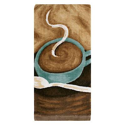 KitchenSmart® Colors Painterly Coffee Fiber Reactive Kitchen Towel in Mocha