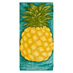 KitchenSmart® Colors Painterly Pineapple Fiber Reactive Kitchen Towel in Atlantic