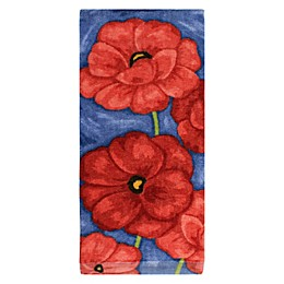 KitchenSmart® Colors Painterly Poppies Fiber Reactive Kitchen Towel in Paprika