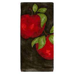 KitchenSmart® Colors Painterly Apple Fiber Reactive Kitchen Towel in Black