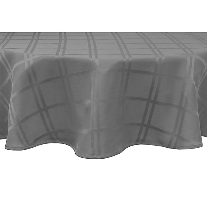 Alternate image 1 for Origins™ Microfiber 90-Inch Round Tablecloth in Charcoal