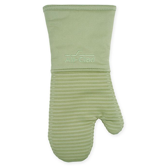 Alternate image 1 for All-Clad Silicone Oven Mitt in Fennel