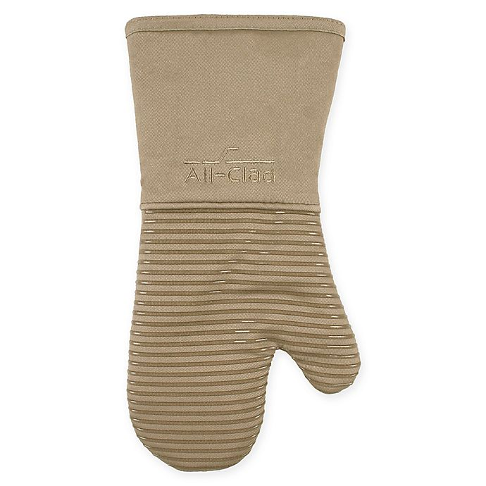 Alternate image 1 for All-Clad Silicone Oven Mitt in Mushroom