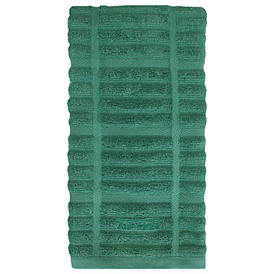 All-Clad Solid Kitchen Towel in Seaglass