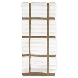 All-Clad Plaid Kitchen Towel in Mushroom