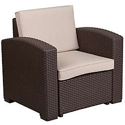 Flash Furniture Outdoor Faux Rattan Furniture Collection