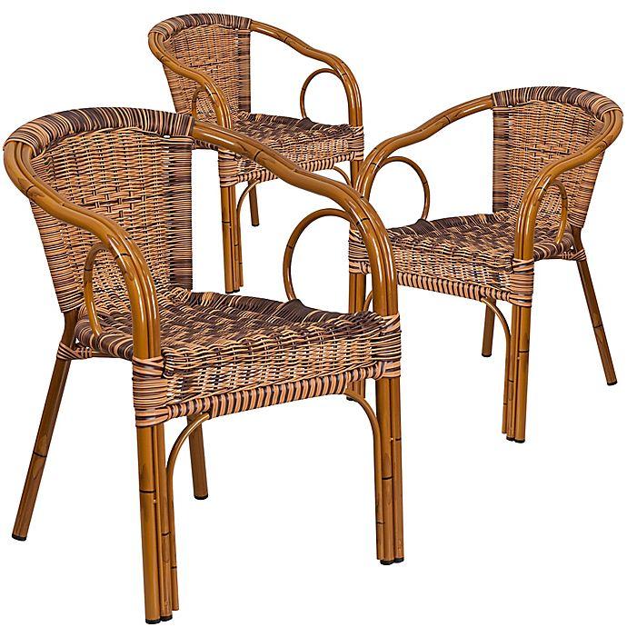 Flash Furniture Rattan Patio Chairs In