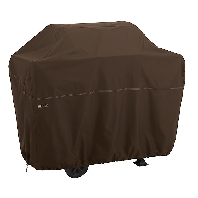 Alternate image 1 for Classic Accessories® Madrona™ RainProof™ X-Large BBQ Grill Cover in Cocoa