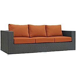 Modway Sojourn Outdoor Sofa in Tuscan Sunbrella® Canvas Fabric