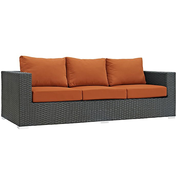 Alternate image 1 for Modway Sojourn Outdoor Sofa in Tuscan Sunbrella® Canvas Fabric
