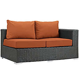 Modway Sojourn Outdoor Right Arm Facing Loveseat in Tuscan Sunbrella® Canvas Fabric