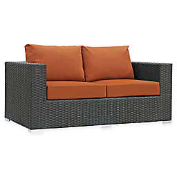 Modway Sojourn Outdoor Loveseat in Tuscan Sunbrella® Canvas Fabric