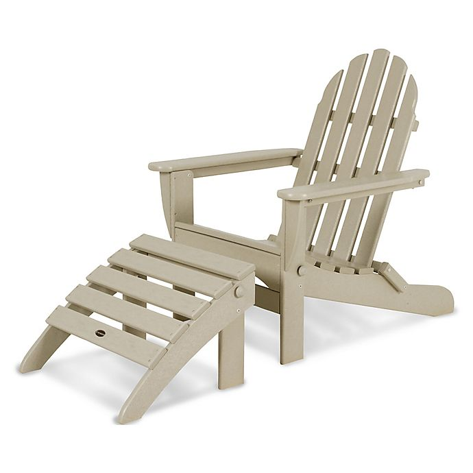 Alternate image 1 for POLYWOOD® Classic 2-Piece Folding Adirondack Chair and Ottoman Set