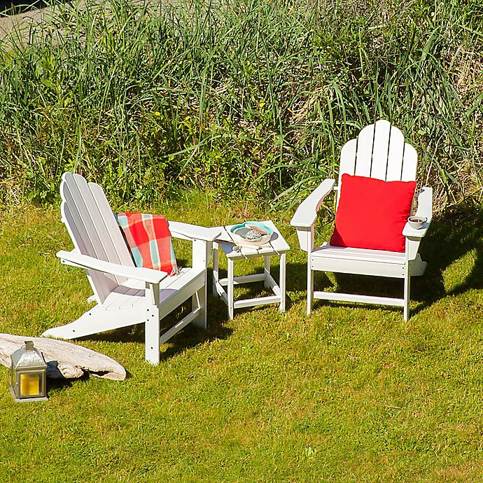 Alternate image 1 for POLYWOOD® 3-Piece Long Island Chaise Lounge Outdoor Set in White