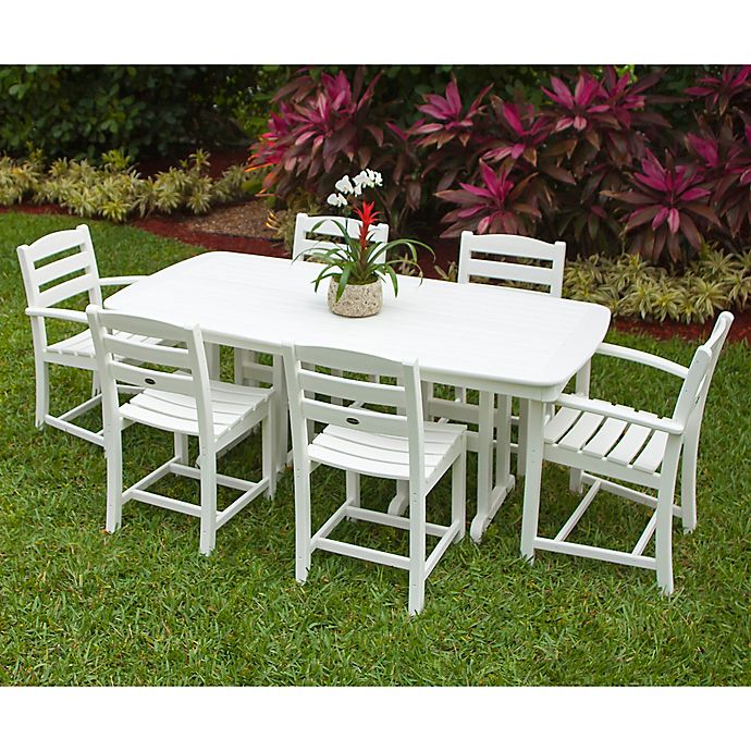 Alternate image 1 for POLYWOOD® La Casa 7-Piece Outdoor Dining Set in White