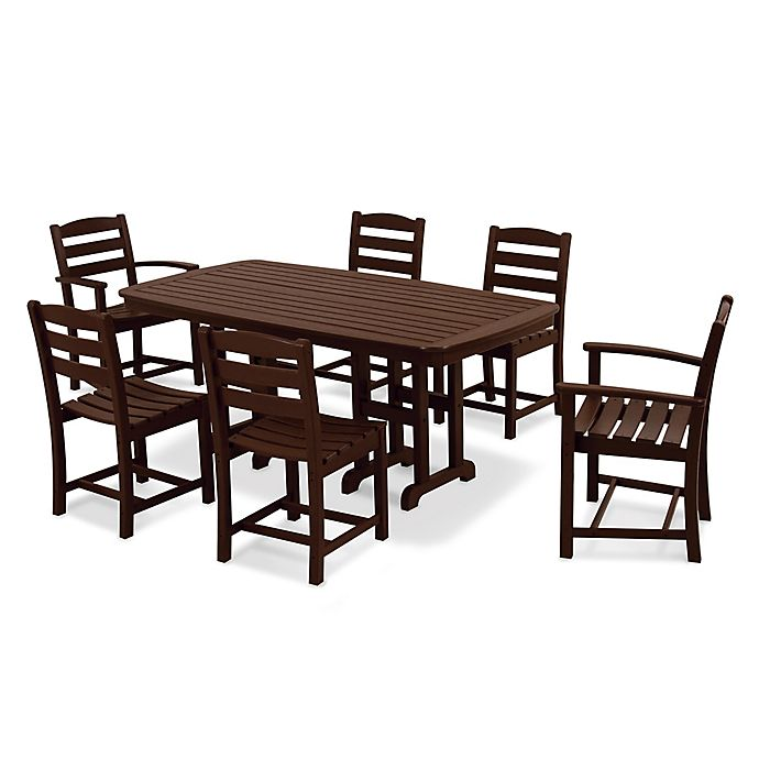 Alternate image 1 for POLYWOOD® La Casa 7-Piece Outdoor Dining Set in Mahogany