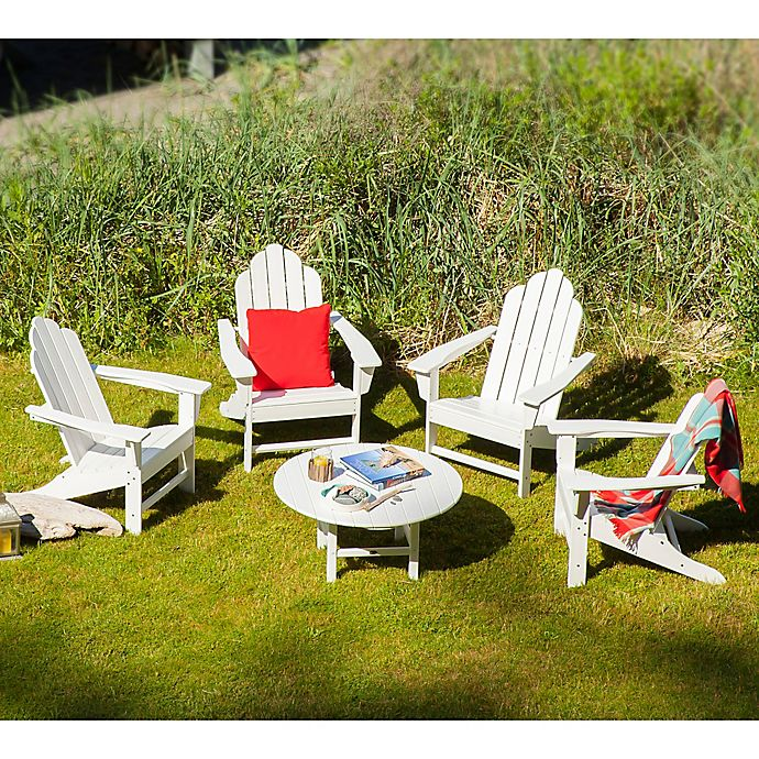 Alternate image 1 for POLYWOOD® 5-Piece Outdoor Conversation Set in White