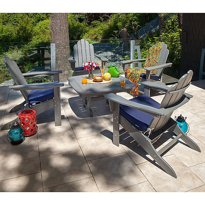 Alternate image 1 for POLYWOOD® 5-Piece Outdoor Conversation Set in Light Grey