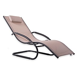 Vivere Patio Chaise Lounge Chair in Brown/Grey