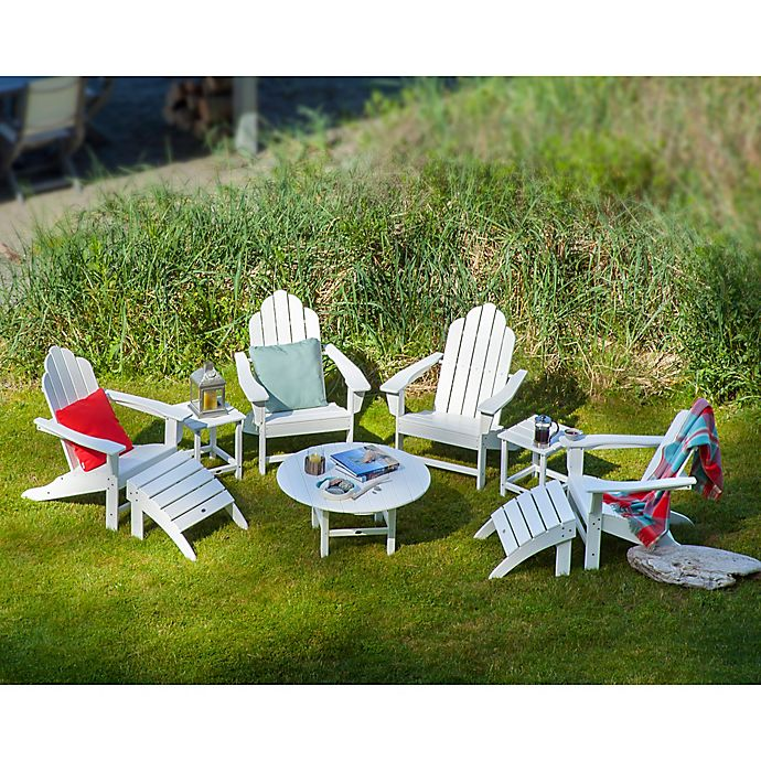 Alternate image 1 for POLYWOOD® 9-Piece Long Island Adirondack Outdoor Conversation Set in White
