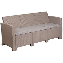 Flash Furniture All-Weather Sofa in Charcoal