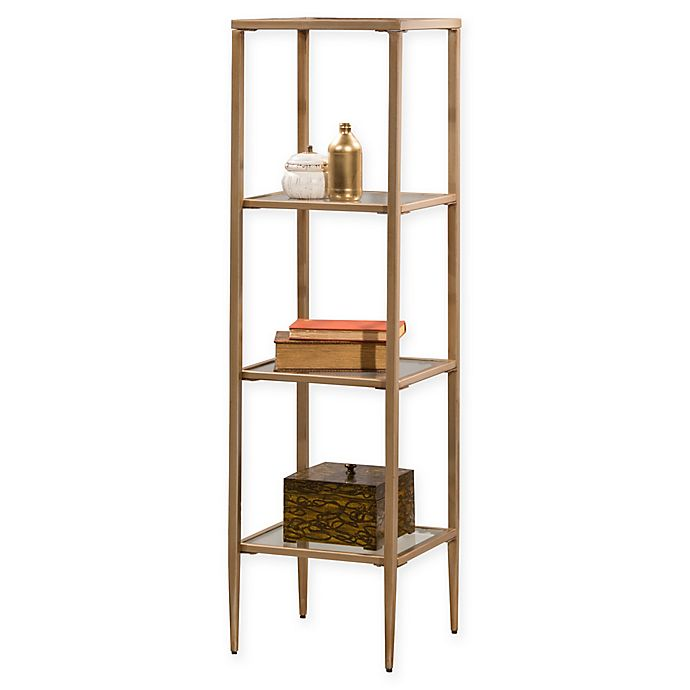 Hillsdale Furniture Harlan 4-Shelf Accent Table In Gold