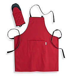 Canadian Living 2-Piece Apron and Shark Mitt Set  in Red