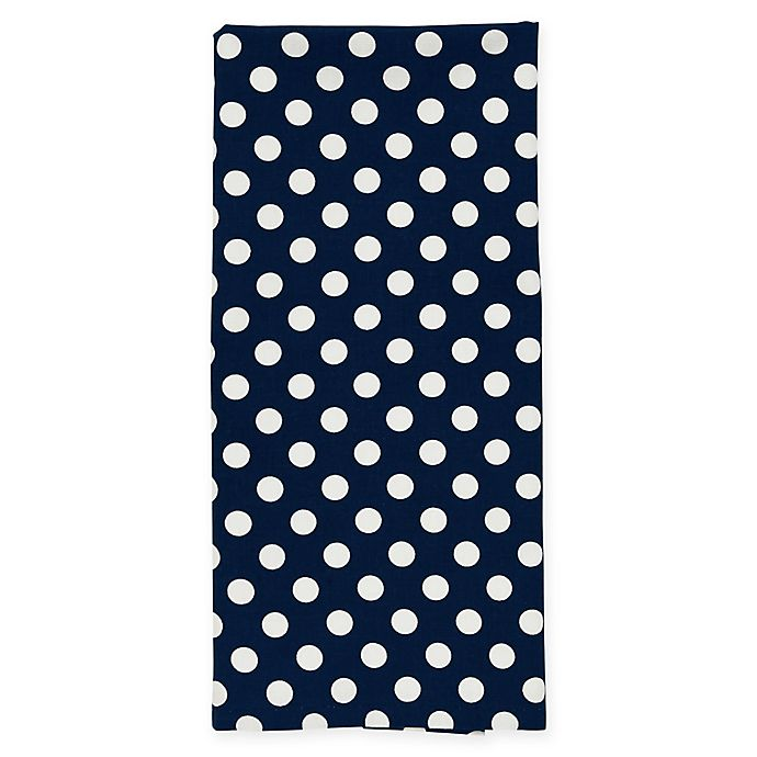 Alternate image 1 for kate spade new york Le Pavilion Flat Woven Kitchen Towel in Navy/White