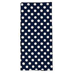 kate spade new york Le Pavilion Flat Woven Kitchen Towel in Navy/White