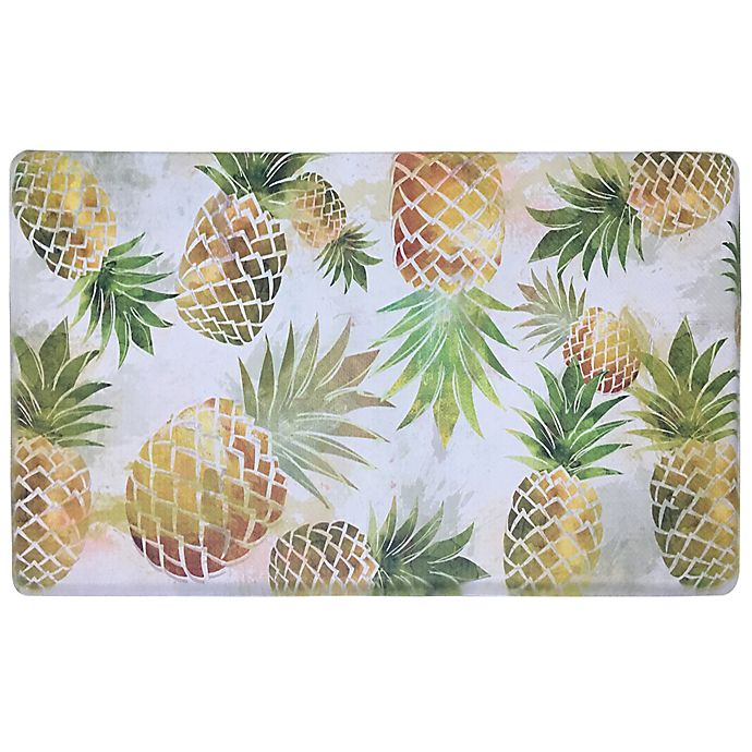 Alternate image 1 for Home Dynamix Cook N Comfort 19.6-Inch x 35.4-Inch Pineapple Kitchen Mat