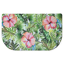 Home Dynamix Cook N Comfort 19.6-Inch x 35.4-Inch Hibiscus Anti-Fatigue Kitchen Mat