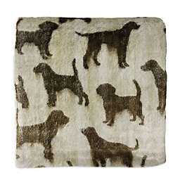 Micro Sherpa Pet Throw Blanket in Tan