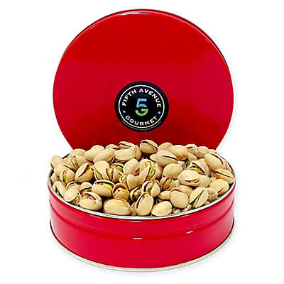Fifth Avenue Gourmet Pistachios in a Holiday Tin