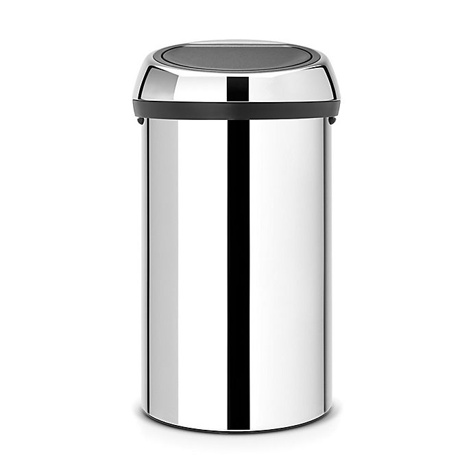 Alternate image 1 for Brabantia® 60-Liter Touch Trash Can in Brilliant Steel