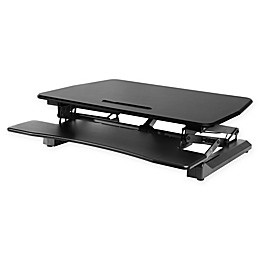 AIRLIFT 35.4-Inch Electric Adjustable Standing Desk Converter in Black