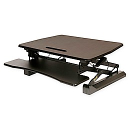 AIRLIFT 35.4-Inch Pneumatic Adjustable Standing Desk Converter in Black