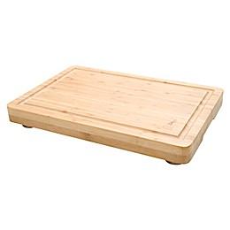 Island Bamboo 12-Inch x 18-Inch Pro Block Carving Board