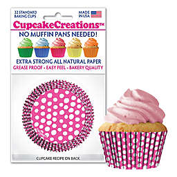Cupcake Creations™ 32-Count Standard Raspberry Baking Cups