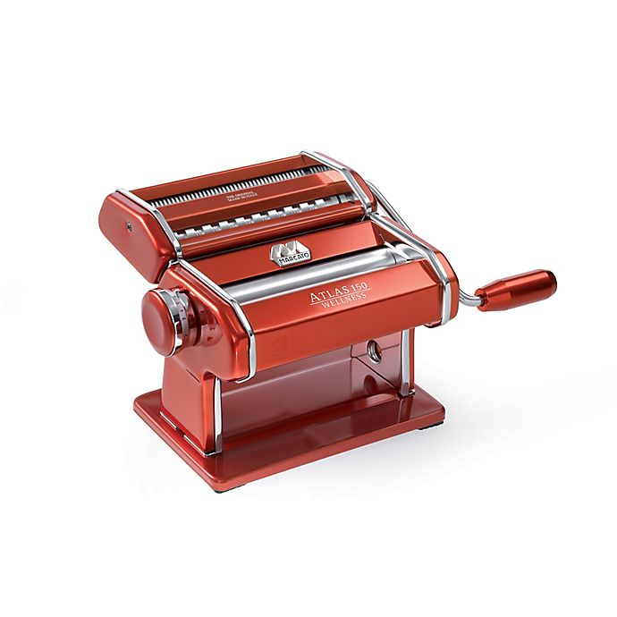 Alternate image 1 for Marcato Atlas 150 Pasta Machine in Red
