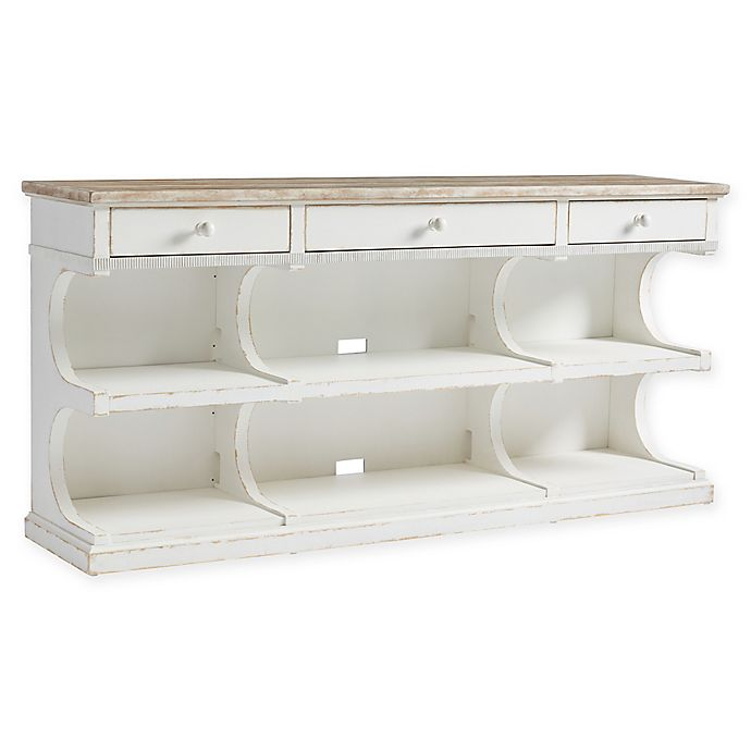 Modern White 63 Tv Stand Unit Cabi W Led Light 2 Drawers Console Table Rc